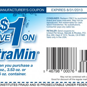 TetraCare TetraMin $1 Printable Coupon