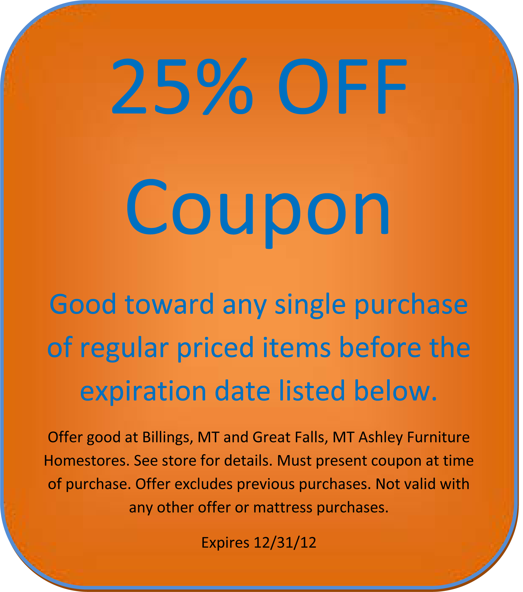 Quality furniture discounts coupon code