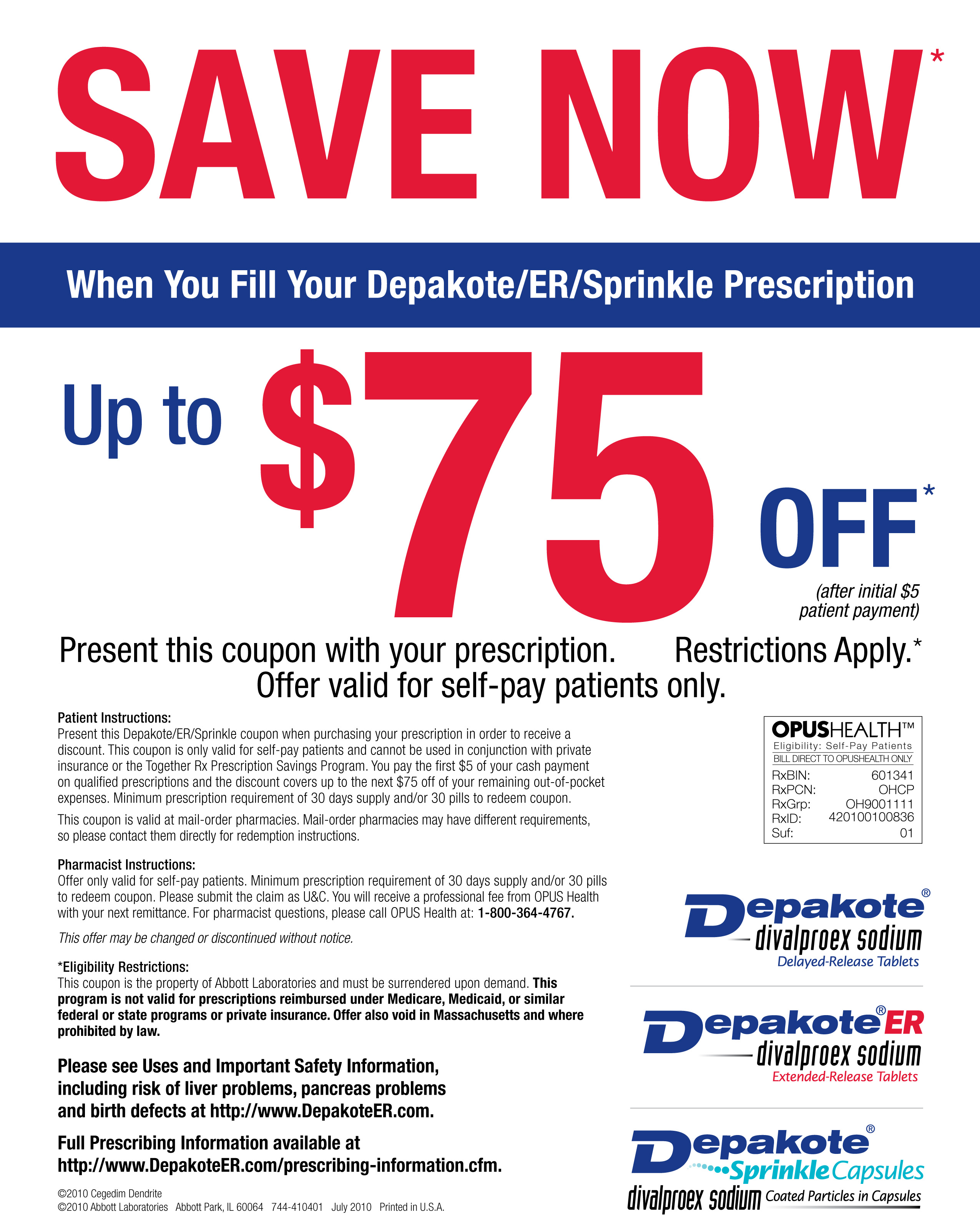 Register and print a reusable coupon to save up to $60 off your prescription of Vyvanse®.
