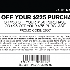 Express coupons online printable