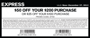 Express $50 OFF Printable Coupon