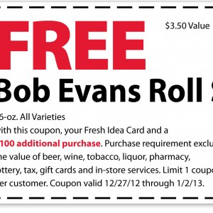 marsh printable coupon free bob evans roll sausage 2013