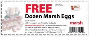 Marsh – FREE Dozen Eggs Coupon 2013