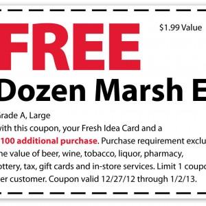 marsh printable coupon free dozen eggs 2013