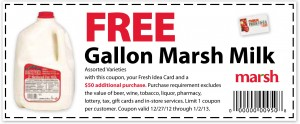MARSH – FREE Gallon of Milk Printable Coupon