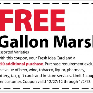 marsh printable coupon free gallon of milk 2013