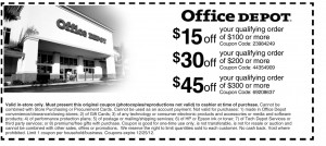 Office Depot 3 Tier List of Coupons
