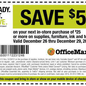 officemax save $5 printable phone coupon