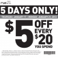 rue21 $5 OFF Clothing Printable Coupon