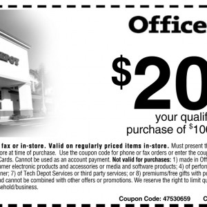 office depot save 20