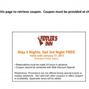 Fiddlers inn stay one night free printable coupon nashville tennessee