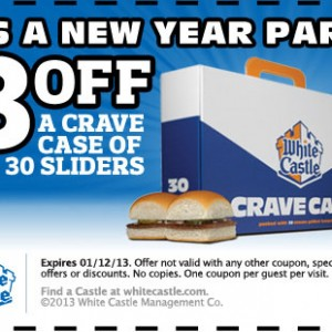 white castle crave case sliders 2013 coupon