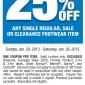 25% Percent OFF Bob's Stores Printable Coupon