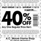 AC Moore 55% 50% and 40% off 2013 Coupon