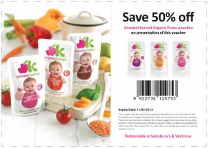 Save 50% OFF Annabel Karmel Organic Puree Pouches! Coupon 2013