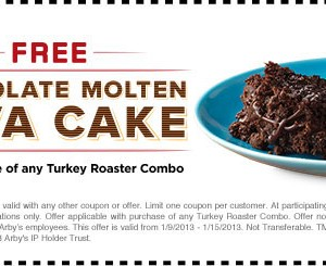 Arbys_Coupon_Free Molten Lava Cake