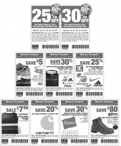 Nine Different Bob's Stores Printable Coupons 2013