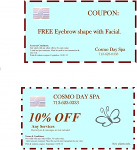 Cosmo Day Spa 10% OFF Coupon Free Eyebrow Shaping
