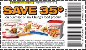 Chung's Food Products Save 35 Cents Coupon
