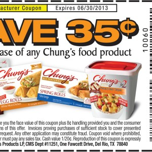 chung food product save manufacturer printable coupon 2013