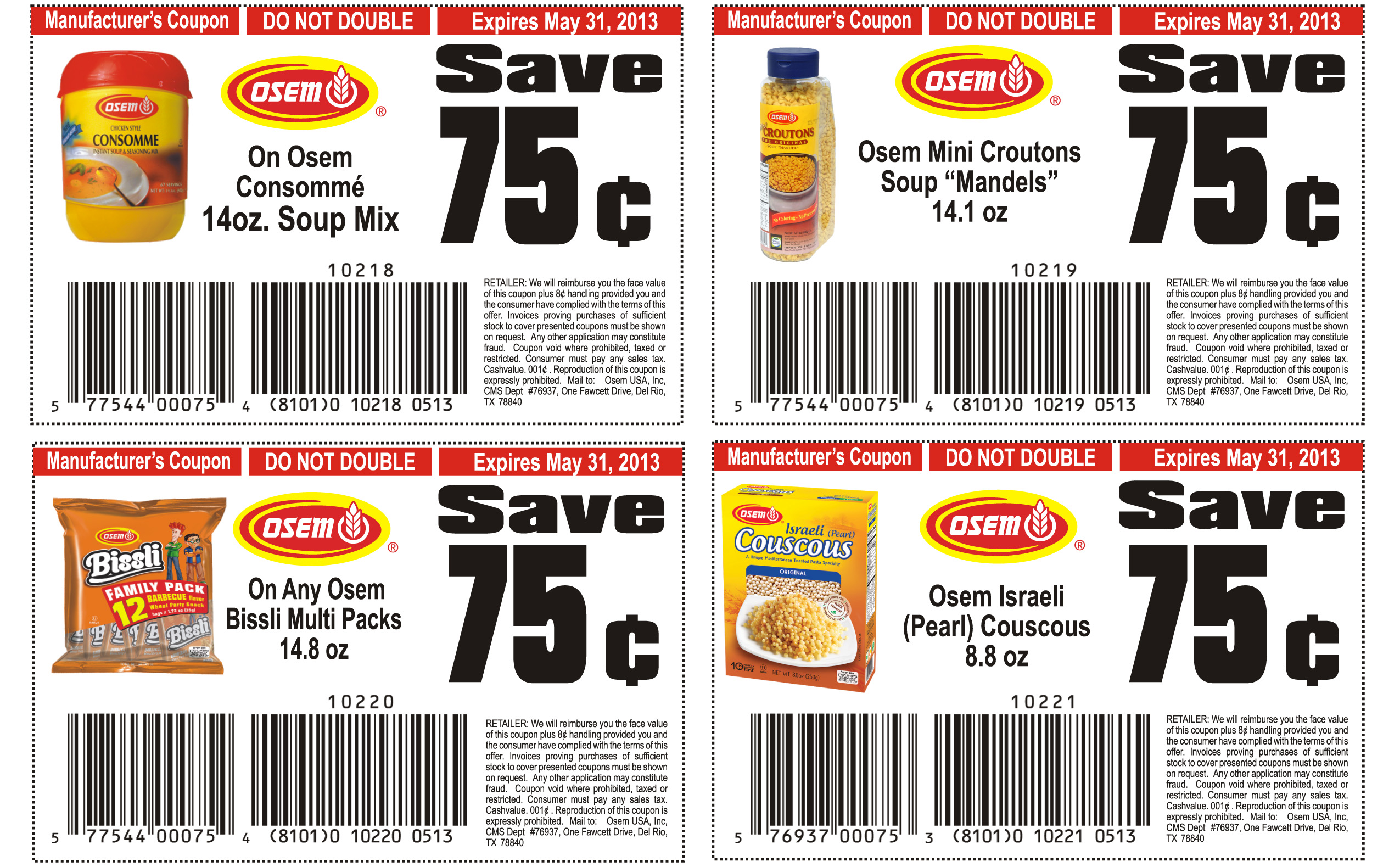 Grocery list coupons