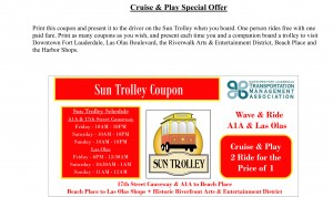 Sun Trolley Coupon Las Olas Ft Laurderdale
