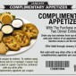 Toojays FREE Appetizer Dinner Coupon 2013