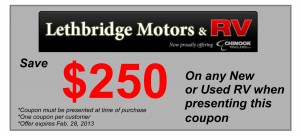 Lethbridge Motors & RV $250 Coupon