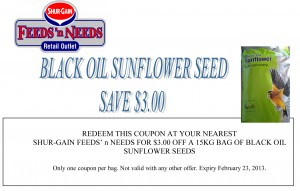 Black Oil Sunflower Seed Coupon Feeds' n Needs
