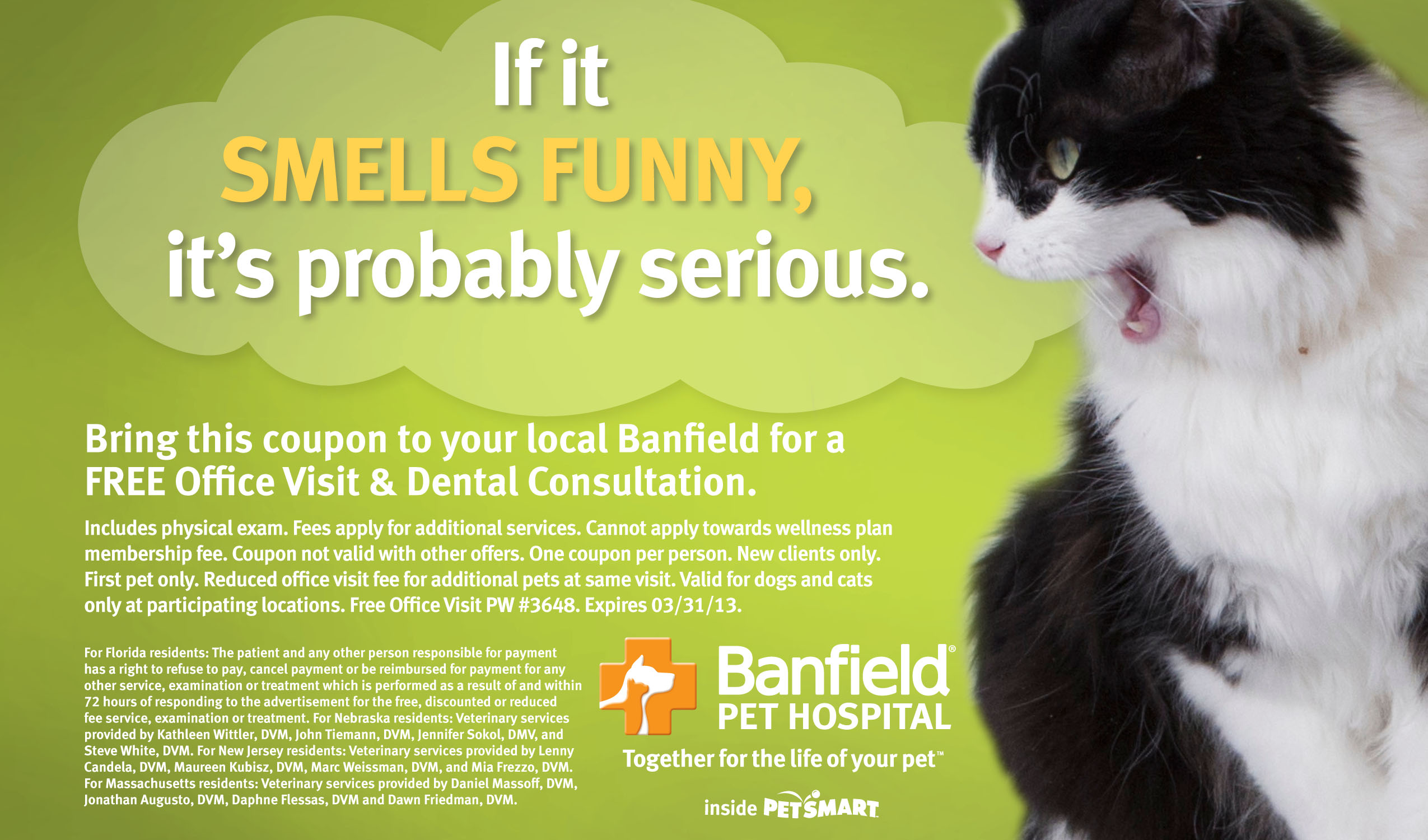 image relating to Banfield Coupons Printable referred to as Banfield dog clinic free of charge puppy examination with coupon at petsmart