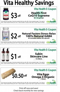 Vita Health Fresh Market Coupon List 2013