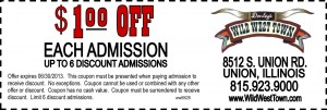 Wild West Town Admission Coupon