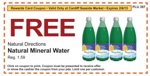 natural directions mineral water FREE coupon