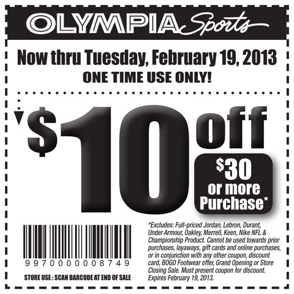 Olympia sports coupons in store