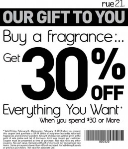 rue21 coupons 2013 save 30 percent off