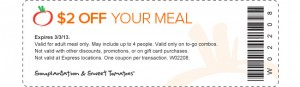 Sweet Tomatoes Coupon $2 OFF Your Meal
