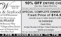 TW Steak and Seafood Coupon Boca Raton