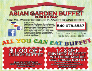 Asian Garden Buffet Sushi Coupons