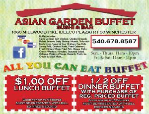 Asian Garden Buffet Sushi Coupons