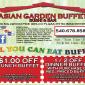 Asian Garden Buffet Sushi Coupons Set