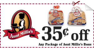 Aunt Millies Buns Coupon