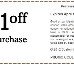Boston Market Coupon