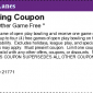 Mt. Airy Duckpin Lanes Bowling Coupon