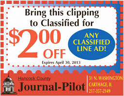 Carthage Illinois Classified Ad Coupon