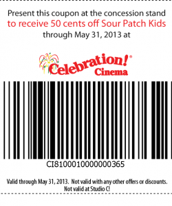 Celebration Cinema Coupon