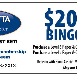 Coushatta Casino Resort Bingo Coupon