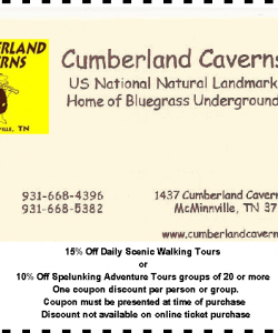 Cumberland Caverns Coupon