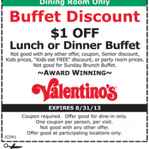 Buffet village coupons