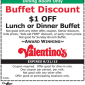 Valentinos Dinner Buffet Coupon