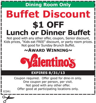 Valentinos coupon code